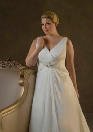 Фото: Пышные свадебные платья для полных девушек