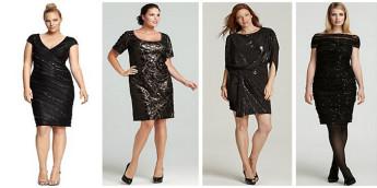 Модные вечерние и коктейльные платья для полных осень-зима 2015-2016