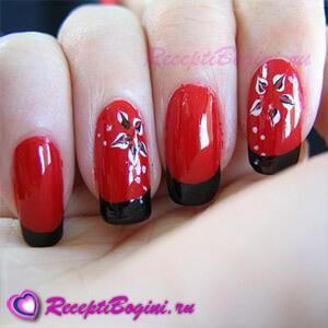 Фото: Дизайн ногтей к 8 марта в красном цвете