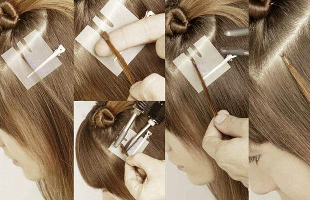 Горячее наращивание волос — Итальянская технология