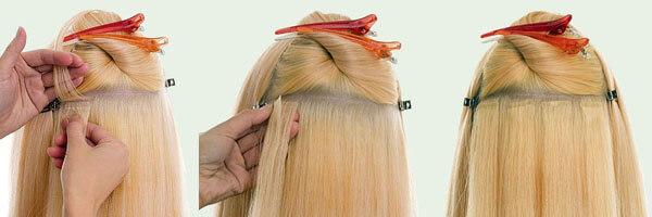 Ленточная технология наращивания волос