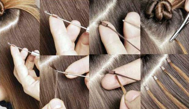 Технология наращивания волос на кольцах