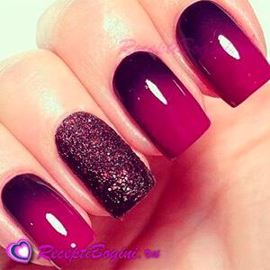 Цвет ногтей винный