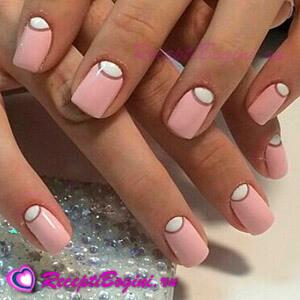 Фото: лунный дизайн ногтей