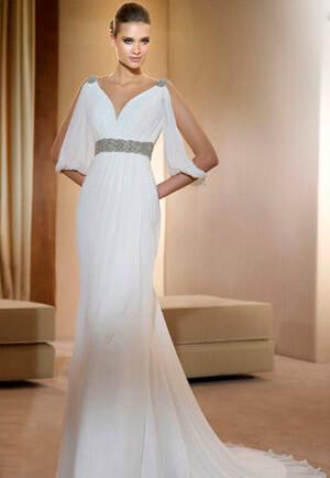 Фото: Греческое свадебное платье: фото модных фасонов 2016