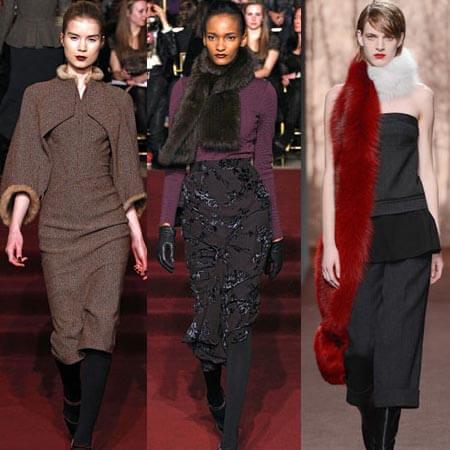 Причём мехом можно украшать не только пальто, но и платья, юбки, жакеты и пиджаки