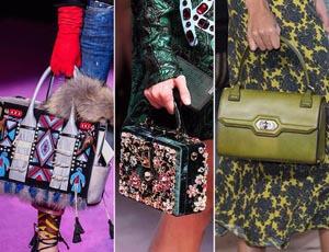 сумочки ярких расцветок и различных форм