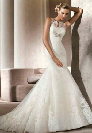 Фото: Свадебное платье русалка: кому идет?