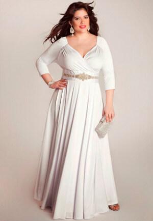 Фото: Свадебное платье для полных девушек с фигурой прямоугольник