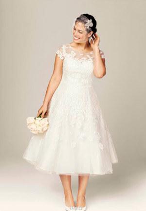 Фото: Свадебное платье для девушек с грушевидной формой тела