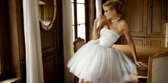 Короткие свадебные платья: модели, фасоны, цвета, фото