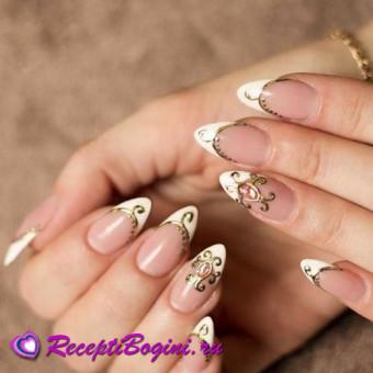Золотое литьё на ногтях