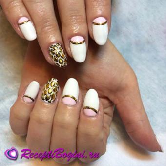 Дизайн ногтей жидкие камни с литьем фото