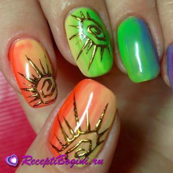 Литьё на ногтях